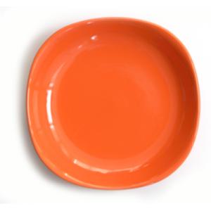 Farfurie adanca patrata din ceramica 22cm culoare orange