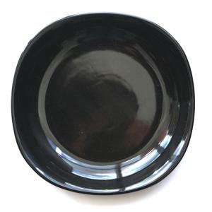 Farfurie adanca patrata din ceramica 22cm negru