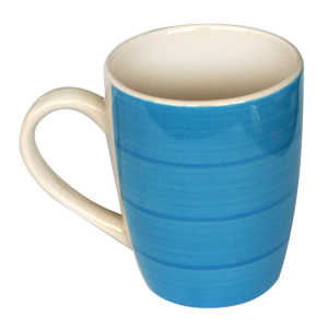 Cana ceramica 390ml albastra