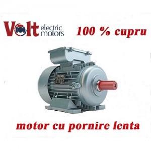 Motor electric monofazat Volt Motor 3 KW pornire lenta Turatii 1500RPM cupru