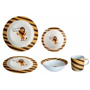 Set serviciu masa din portelan pentru copii LION MN010786